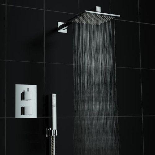 Bateria Natryskowa Prysznicowa Termostatyczna VIVID TR2 Deszczownica Ultra Slim 20 cm - BATERIE ŁAZIENKOWE - Tanie Zlewozmywaki - FHU UNIKAT