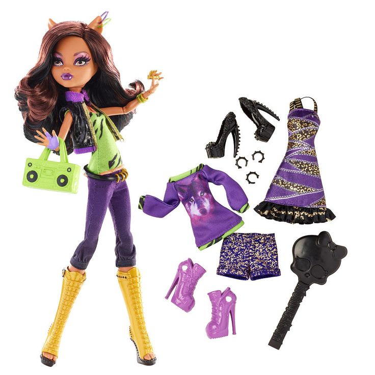 "Monster High Doll with Fashion Outfit - Clawdeen Wolf - Mattel - Toys ""R"" Us"