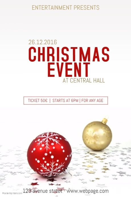 40 best Christmas Poster Templates images on Pinterest Poster - christmas poster template