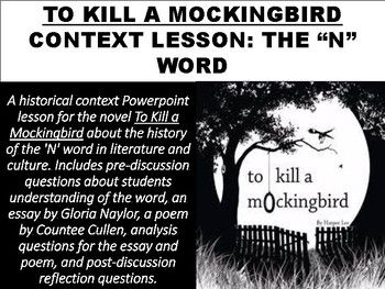 To Kill A Mockingbird Context Lesson The N Word  Homeschooling  To Kill A Mockingbird Context Lesson The N Word  Homeschooling High  School  Teacher Student Homeschool High School The Kite Runner Essay Thesis also Example English Essay  Business Essay Examples