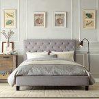 Chelsea Lane Baxter Upholstered Platform Bed - Beds at Hayneedle