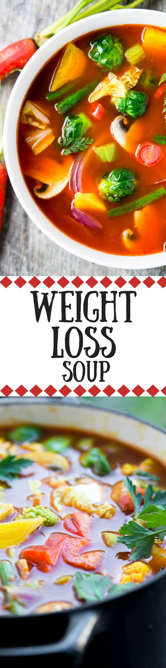 Winter Weight Loss Soup ~ this revitalizing soup is satisfying and delicious.  I don't know where I'd be without it ~ probably a few pounds heavier, that's for sure!