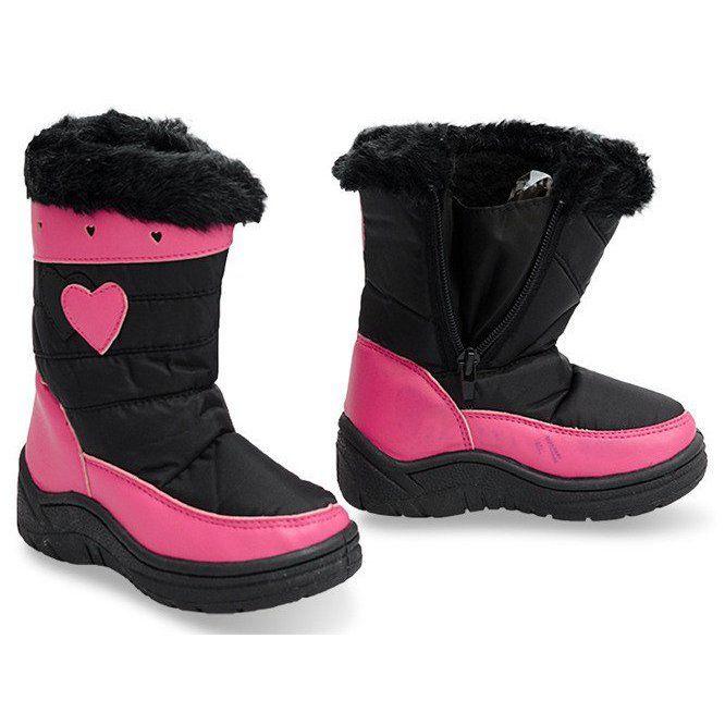 Sniegowce Dla Dzieci Butymodne Ocieplane Sniegowce Dzieciece Df86 Czarny Winter Boot Boots Shoes