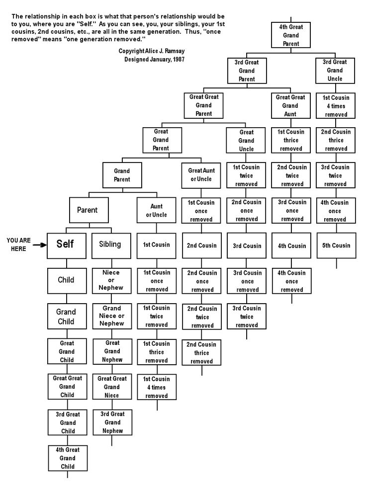 Having trouble keeping track of what to call your great granddad twice removed? Relationship Chart- AWESOME!!!