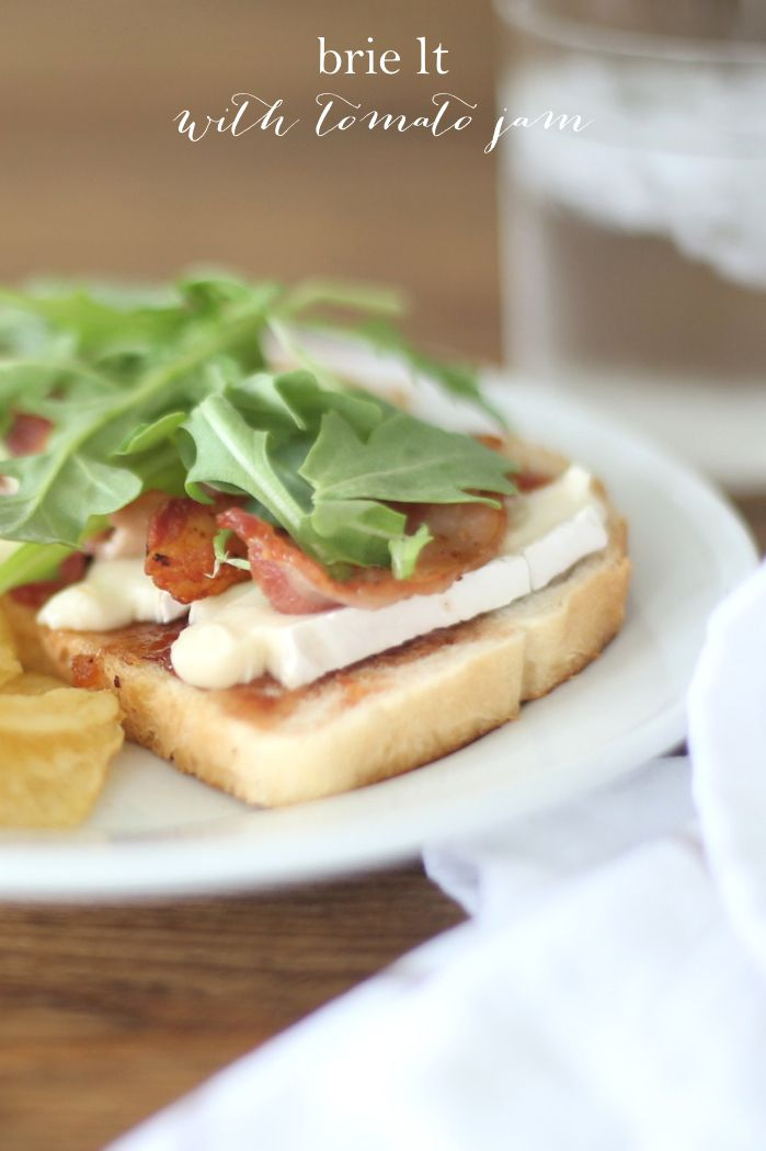 Back to school dinner recipe - Brie L T  with tomato jam