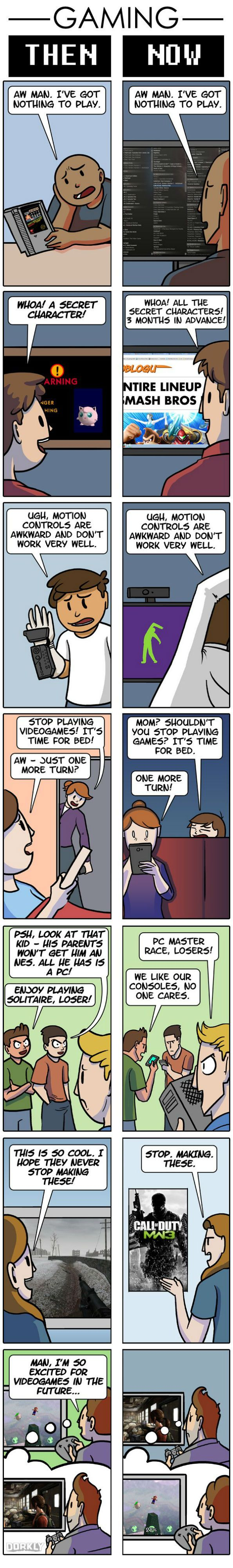 Gaming: then vs now