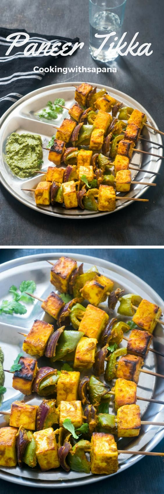 Easy and delicious paneer tikka.