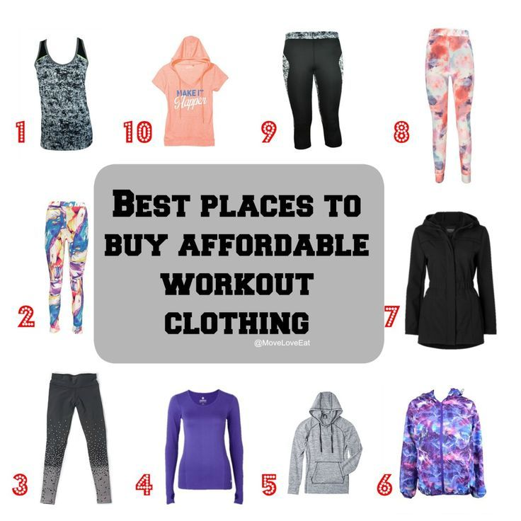 The Best Places to Buy Affordable Workout Clothing
