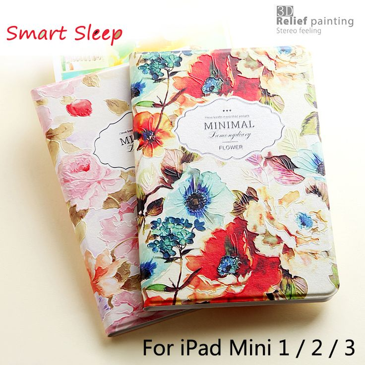 Luxury Designer Case For iPad Mini 2 Mini 3 Smart Stand Case 3D Relief Embossing Fashion Style For iPad Mini2 / Mini3 +Gift