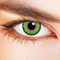 "Farbige Kontaktlinsen Grün farbig ""Dual Tone Green""+gratis Behälter"