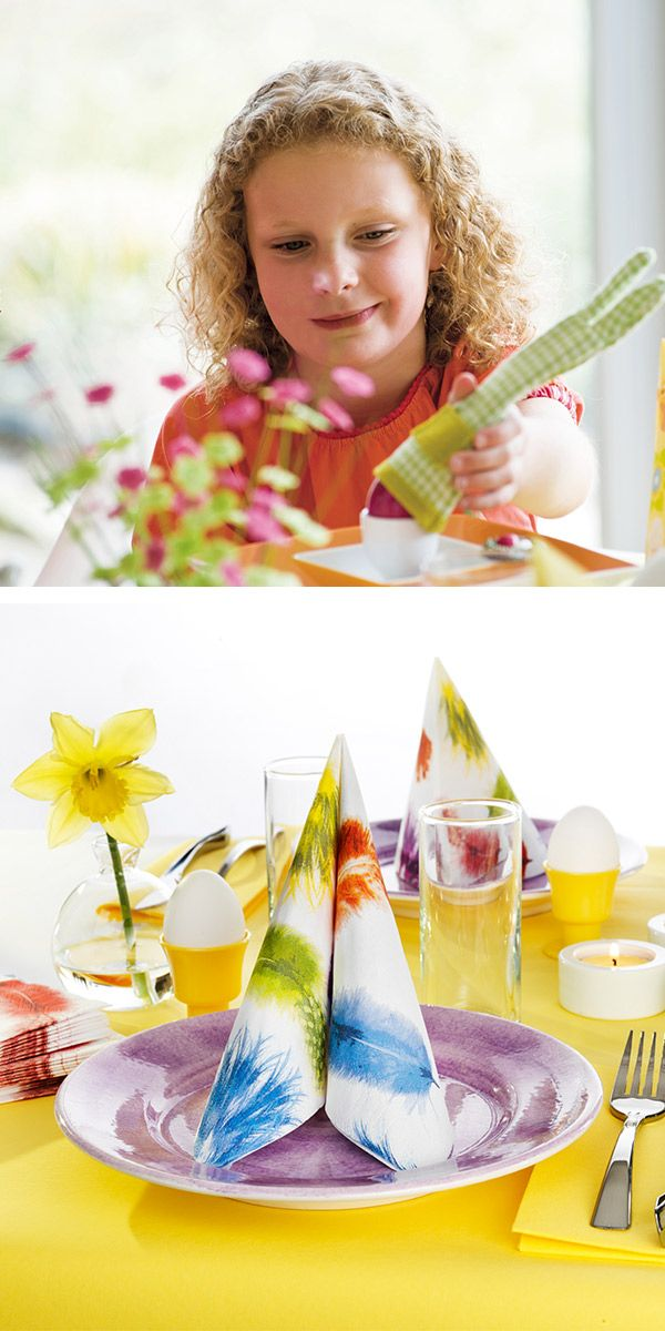Set the easter table together with your kids