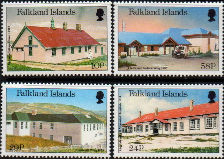 Falkland Islands 1987 Local Hospitals Set Fine Mint SG 551 4 Scott 465 8 Condition Fine MNH Only one post charge applied on multiple purchases