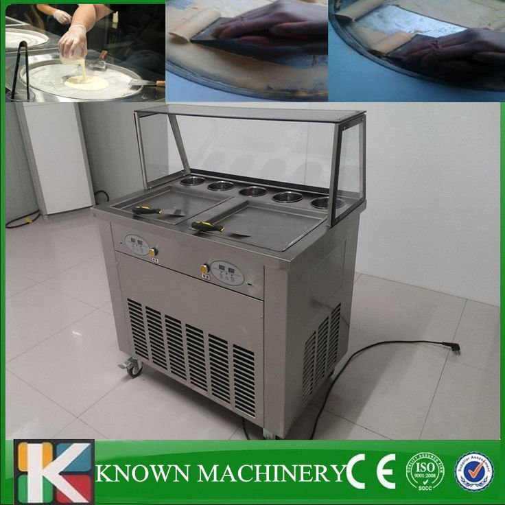 Commercial pedal defrost customized 2 pans with 5 cooling tanks fried ice cream machine price 110v/220v //Price: $US $1150.00 & FREE Shipping //     #kitchenappliances