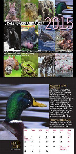 Calendario 2015 da scrivania AgireOra Edizioni http://www.agireoraedizioni.org/calendari-animali/calendario-da-scrivania/