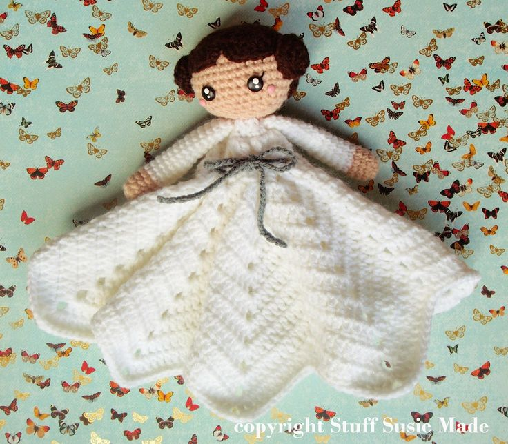 stuff susie made: Princess Leia Blankie - Free Crochet Pattern and Tutorial.  Star Wars.