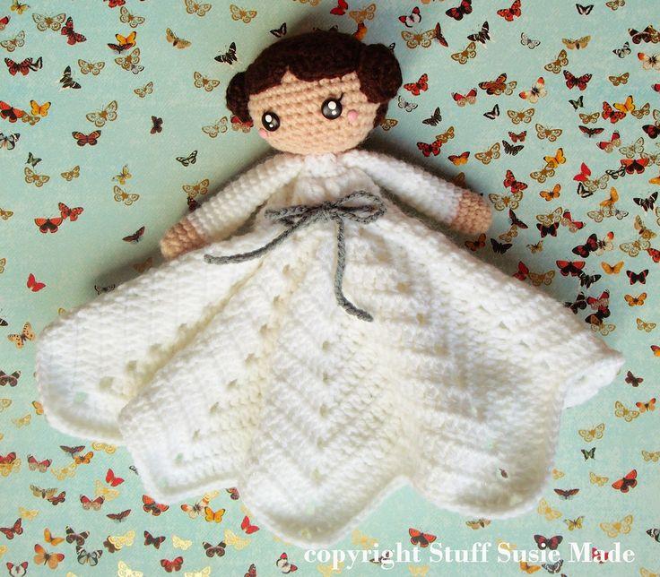 stuff susie made: Princess Leia Blankie - Free Crochet Pattern and Tutorial.  Star Wars.