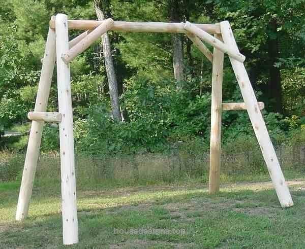 5 Cedar Log Porch Swing Frame Frame Only Rustic Indoor