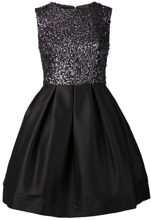 Ml Monique Lhuillier sequin flare dress
