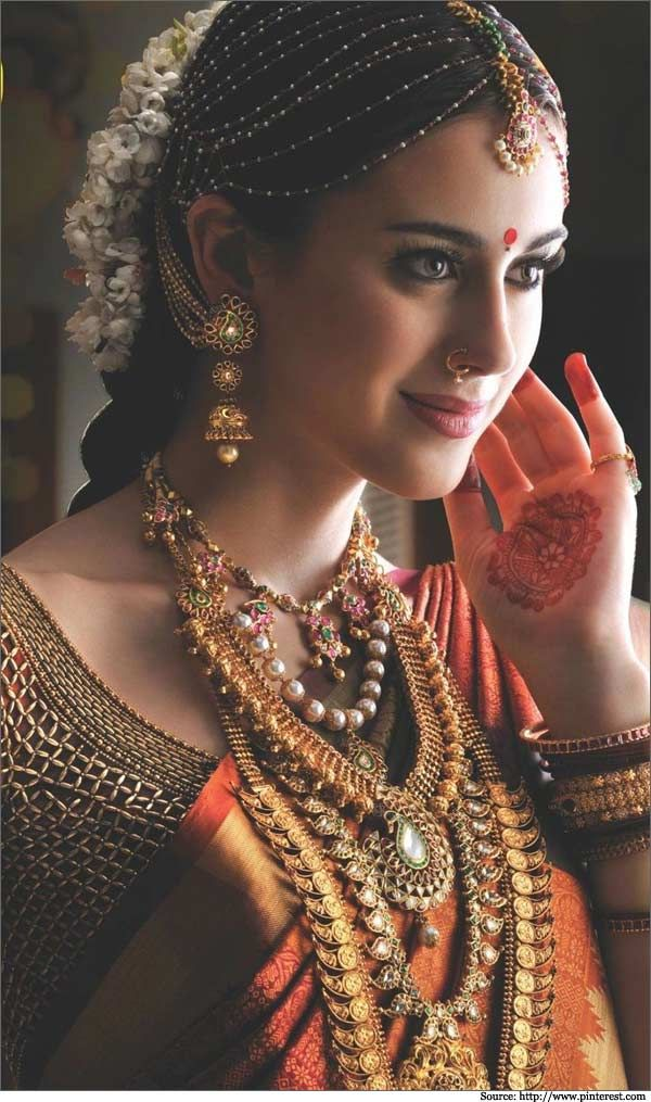 A Beautiful South Indian Bride - loved & pinned by www.omved.com