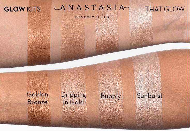 makeupbyazadig- anastasia beverly hills - france - sephora - liquid lipstick - modern renaissance - brow powder -that glow