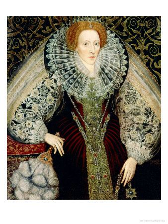 Queen Elizabeth I (1558 - 1603)  the daughter of Henry VIII and Anne Boleyn. Through her Religious Settlement of 1559 she enforced the Protestant religion by law. She had Mary Queen of Scots executed in 1587. Her conflict with Roman Catholic Spain led to the defeat of the Spanish Armada in 1588. The Elizabethan age was expansionist in commerce and geographical exploration, and arts and literature flourished. She was known as the Virgin Queen. She was succeeded by James I.