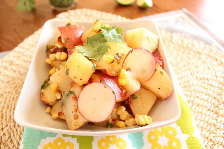 Red Potato and Grilled Corn SaladFun Recipe, Potatoes Salad, Potato Salad, Red Potatoes, Grilled Corn Salad, Grilled Salad, Roasted Corn, Jessica Taylors, Summer Bbq