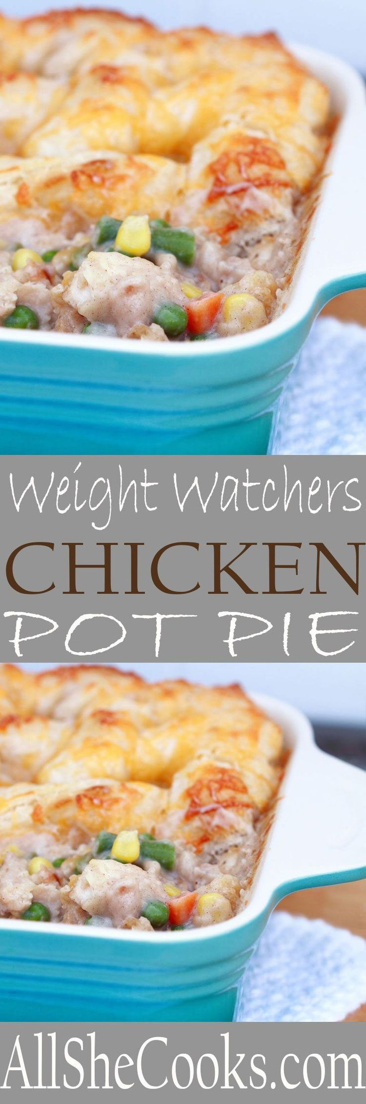 Enjoy Weight Watchers Chicken Pot Pie while watching your weight. Chicken pot pie doesn't have to mean high calories. Great flavor! best-low-fat-weight-watchers-chicken-pot-pie
