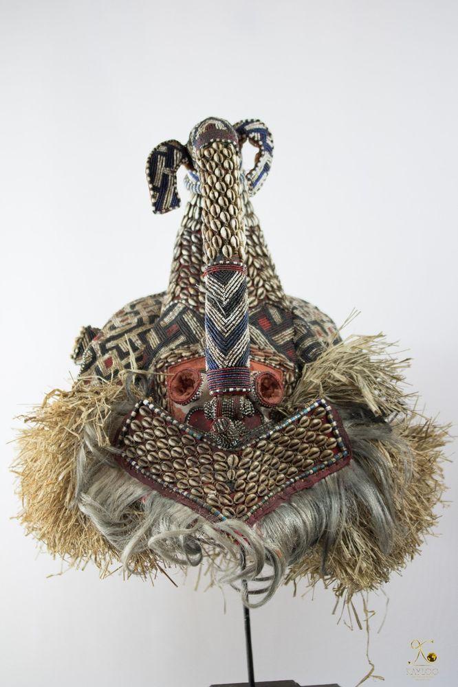 Kuba Mukenga (Moshambwooy) African Helmet - Congo DRC - Tribal used