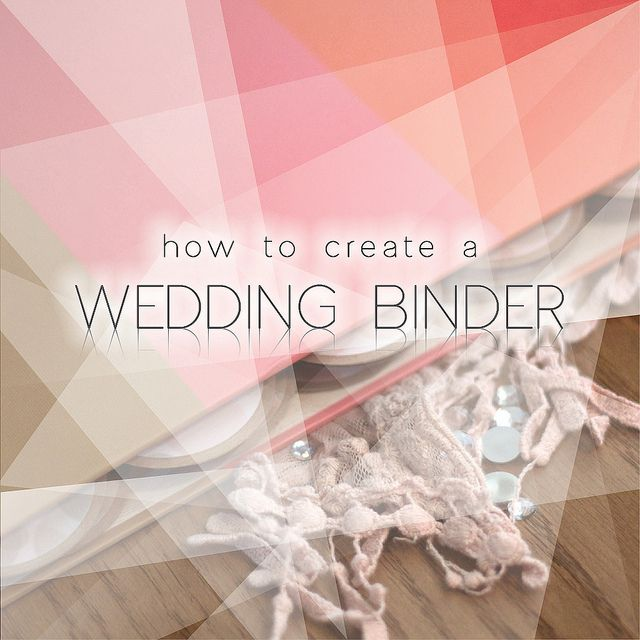 Wedding binder by the faceted via flickr my big day for Diy wedding binder templates