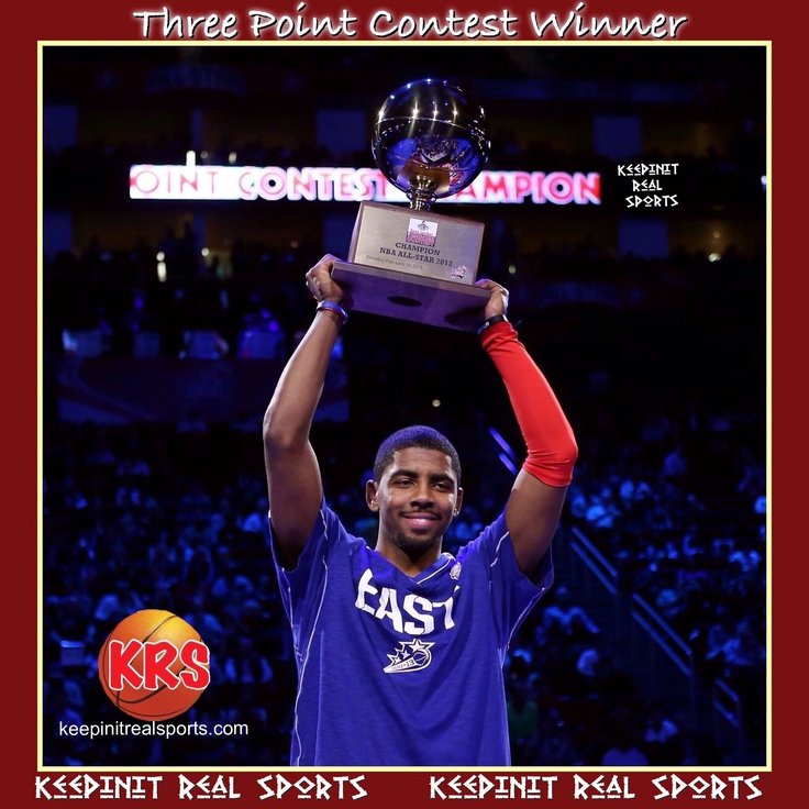 Keepinit Real NBA All-Star Break News: Three Point Contest Winner  Cleveland Cavaliers point guard Kyrie Irving beat San Antonio Spurs Matt Bonner to win the 3-point contest. Irving started 7 for 7 in the final round and finished with 23 points, two shy of the record shared by Craig Hodges and Jason Kapono. Bonner finished with 20 points in the final round.