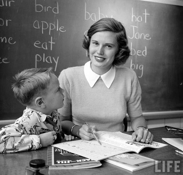 school teacher - vintage streetstyle