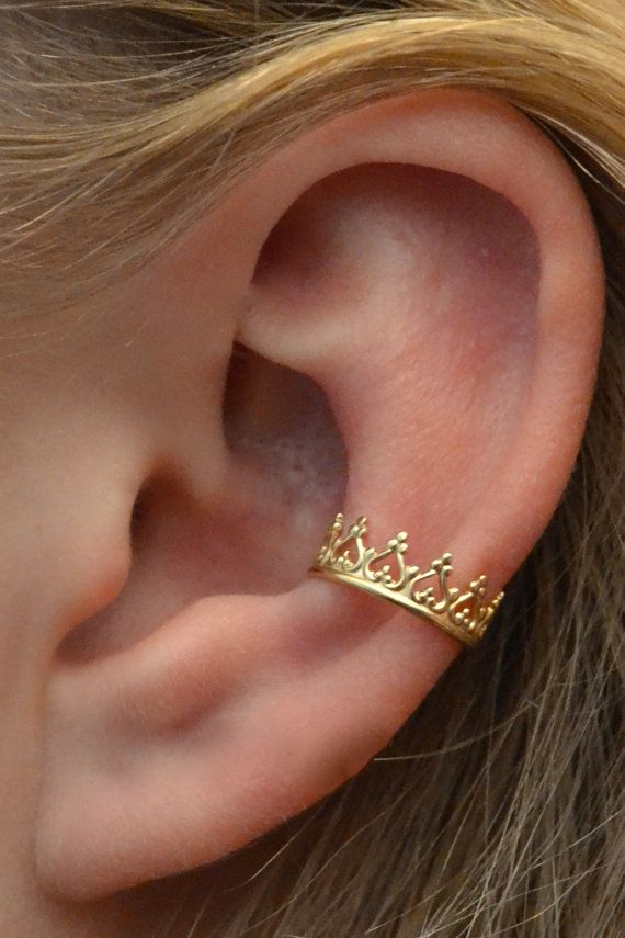 Manguito: corona de princesa oro Vermeil solo por ChapmanJewelry