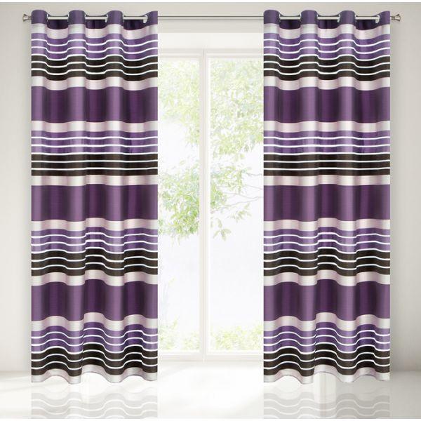 Dekoračný záves do izby fialovej farby