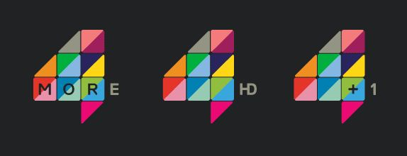i know this re branding is old but never comated on it. I love these spreadibity of the brand as you can use the triangles. also as the logo can work with any colour you can make it suite , themes ,events and moods. this probably one of my favourite tv brand around .