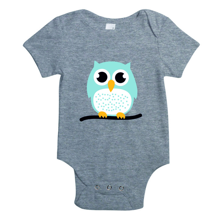 Baby rompertje - blauw - uil