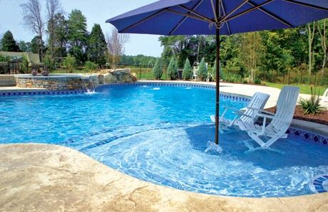 Overview and photos of 5 cool swimming pool-shade features for pool & patio:  Pool Umbrella, Screen Room Enclosure, Pergola, Gazebo/Pavilion, Pool Cabana