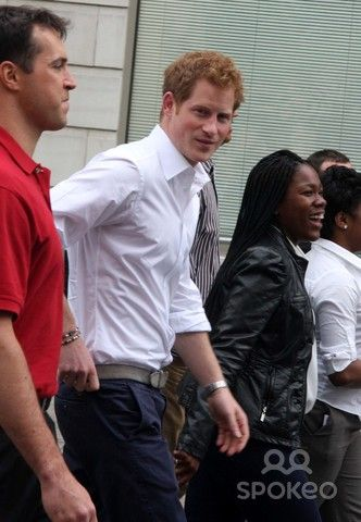 Prince Harry in New York City Posing with British Prime Minister David Cameron on a New Version of the London's Red Routemaster Double Decker Bus a New Bus For London!!! and Prince Harry Up in Harlem at Rbi's Field with N.Y. Yankees First Baseman Mark Teixeira on Tuesday May 14th 2013!!! Photo by William Regan- Globe Photos Inc. 2013 Prince Harry in New York City Posing with British Prime Minister David Camer...