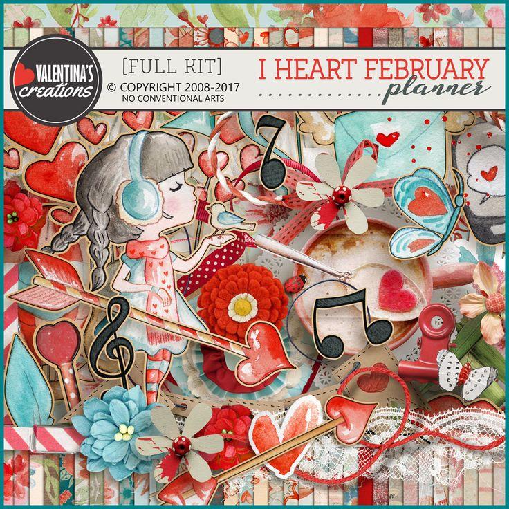 Digital Art :: Kits :: I Heart February (Full Kit)