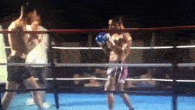 540 kick (tornado) knockout in a kickboxing match.