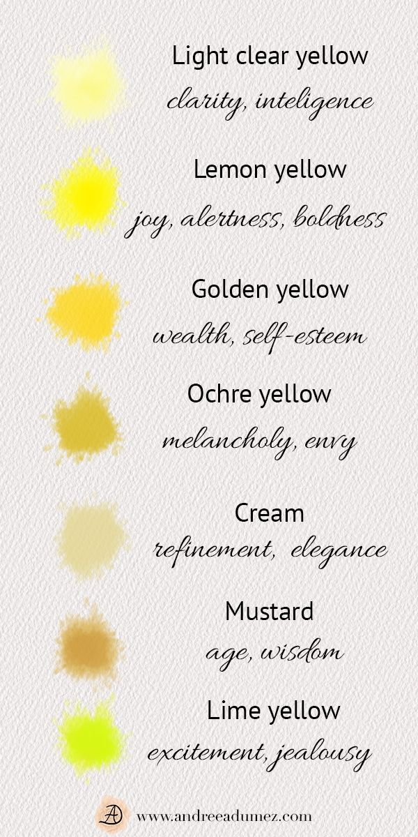 Why I Like Yellow Color Psychology Color Lessons Color Meanings