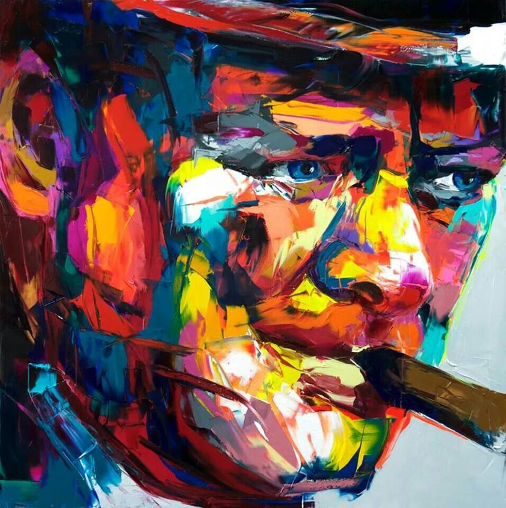 French painter Francoise Nielly artwork based on