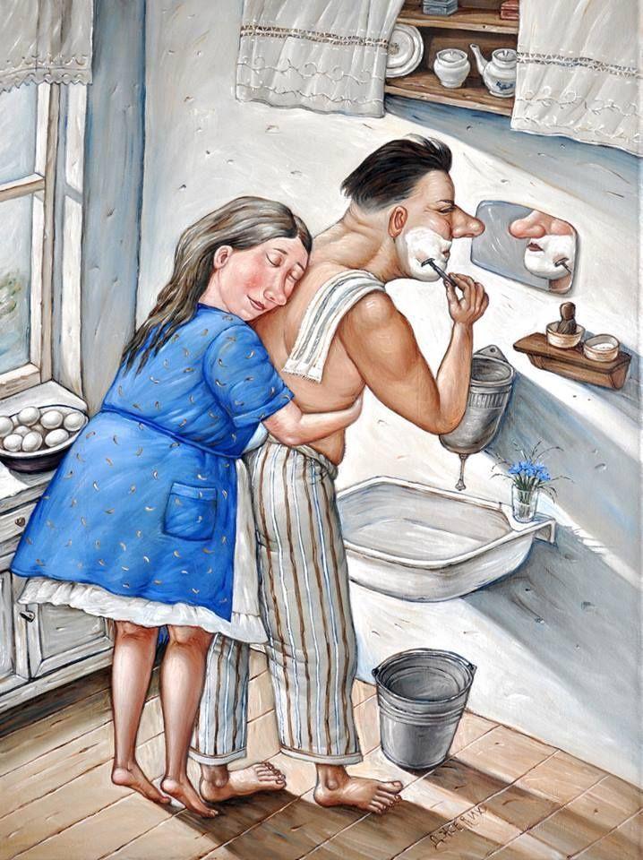 Прикольные рисунки для жены
