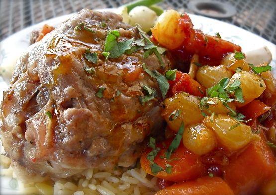 Braised Lamb Shanks - Pressure Cooker Recipe