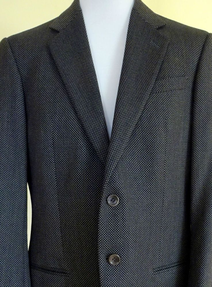 "Vintage 80s ARMANI COLLEZONI Blazer Mens Jacket CHEST SIZE 38"" 2 Button in Clothes, Shoes & Accessories, Men's Clothing, Suits & Tailoring 