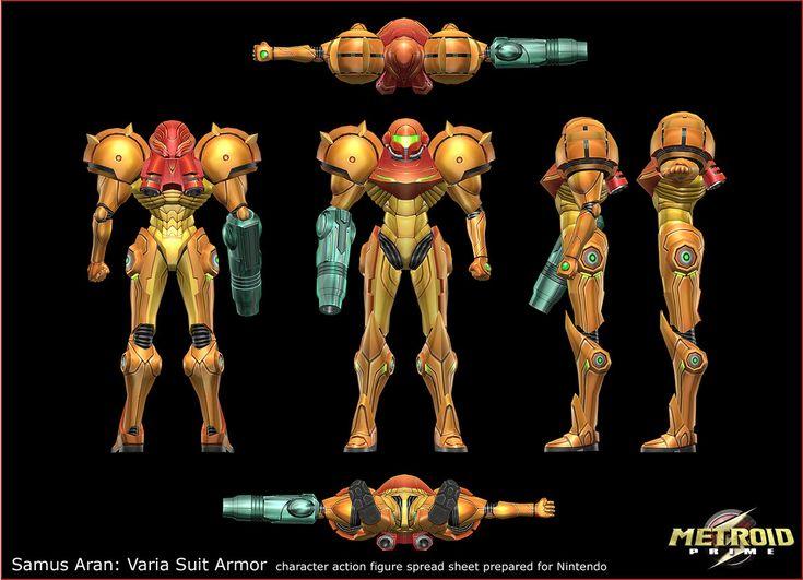 ArtStation - Metroid Prime: Samus Aran's Varia Suit, Metroids, etc, Gene Kohler