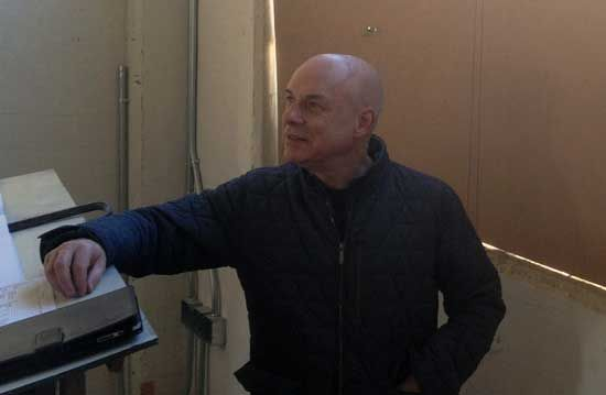 Brian Eno visited San Francisco to see the site where the Manual for Civilization shelves will be Photo by Alexander Rose  Twenty books suggested...