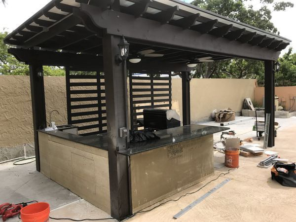 Pergola And Outdoor Kitchen Islands For Sale In Miami Fl Offerup Outdoor Kitchen Island Outdoor Kitchen Decor Kitchen Islands For Sale