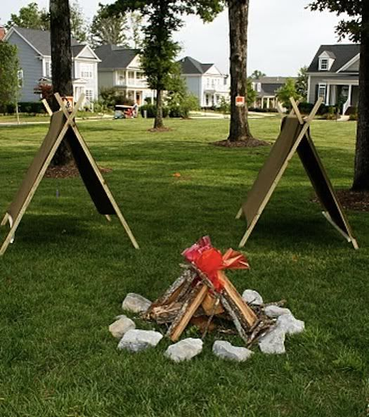 camp out party ideas...terrific party planning blog www.pisforparty.blogspot.com
