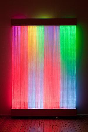 neon waterfall