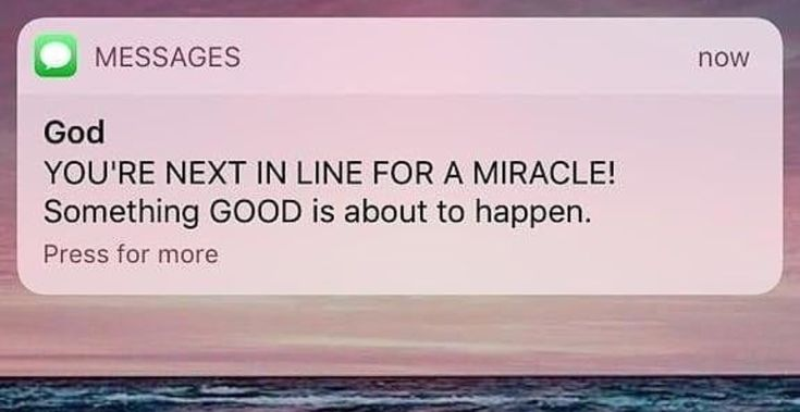 Yes, I need a miracle